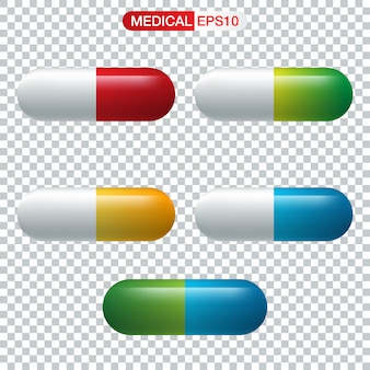 Realistyczna kapsułka lub pigułka leku