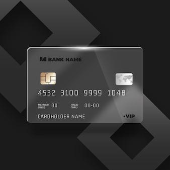 Realistyczna karta kredytowa z efektem szkła