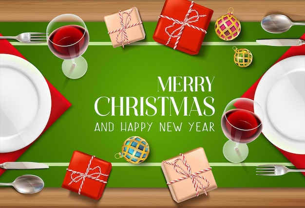 Realistyczna kartka świąteczna i noworoczna