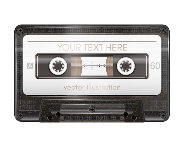 Realistyczna kaseta audio na białym tle