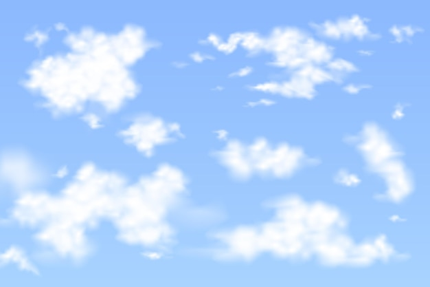 Realistyczna kolekcja chmur