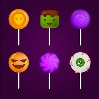Realistyczna kolekcja cukierków halloween