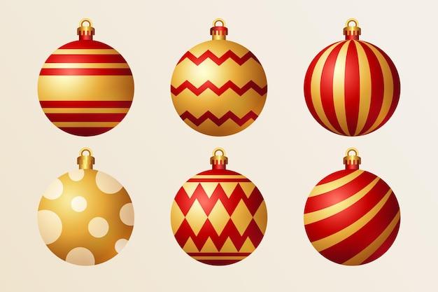 Realistyczna kolekcja dekoracji świątecznych
