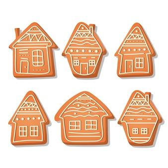 Realistyczna kolekcja domków z piernika