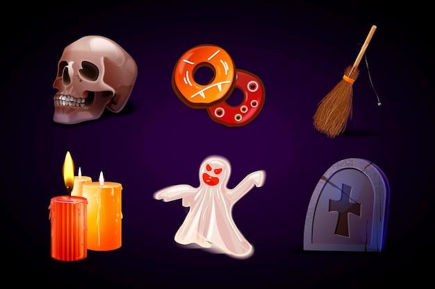 Realistyczna kolekcja elementów halloween