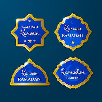 Realistyczna kolekcja etykiet ramadan kareem