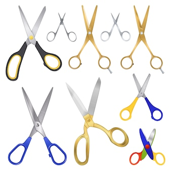 Realistyczna kolekcja family scissor