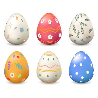 Realistyczna kolekcja jaj wielkanocnych