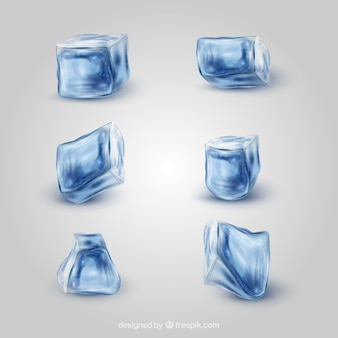 Realistyczna kolekcja kostek lodu