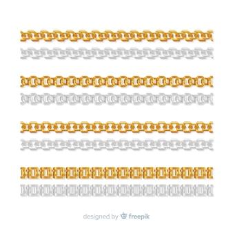 Realistyczna kolekcja łańcuchów