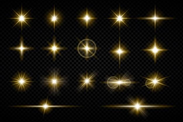 Realistyczna kolekcja musujących gwiazd