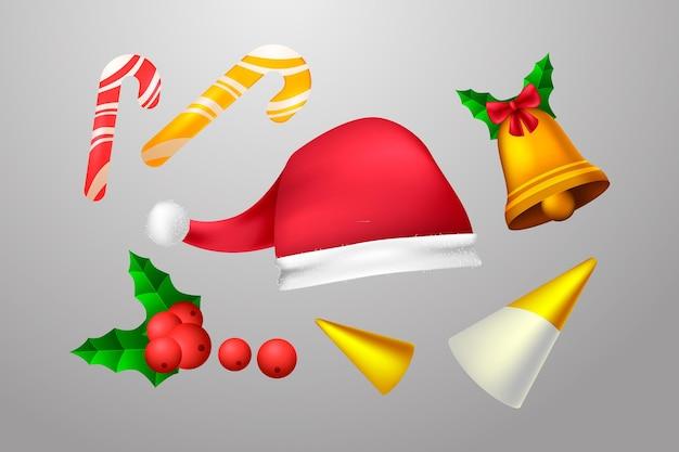 Realistyczna kolekcja ozdób świątecznych