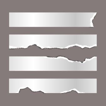 Realistyczna kolekcja papieru rip