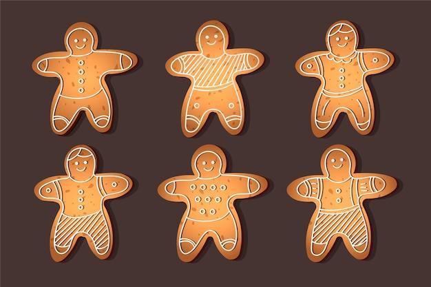 Realistyczna Kolekcja Plików Cookie Piernika Darmowych Wektorów