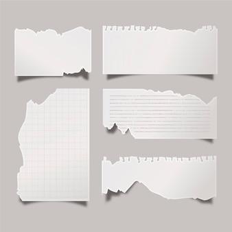 Realistyczna kolekcja podartego papieru