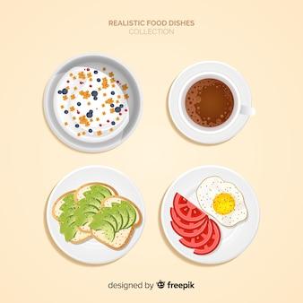 Realistyczna kolekcja potraw