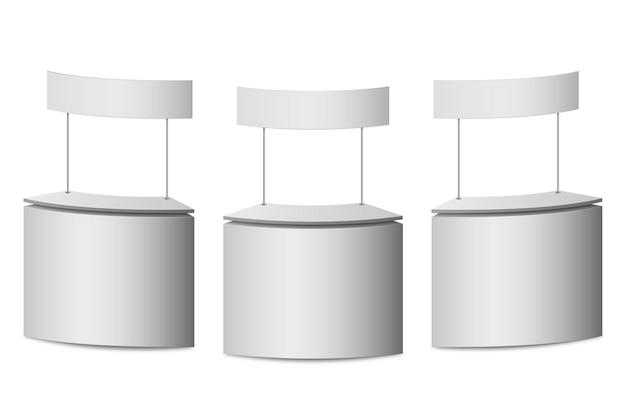 Realistyczna kolekcja stołów promocyjnych