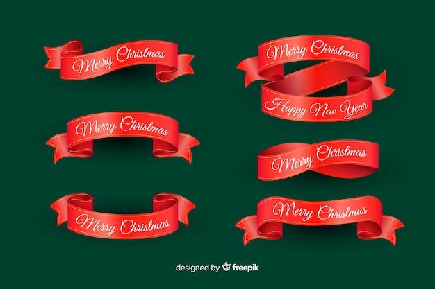 Realistyczna kolekcja świątecznych wstążek