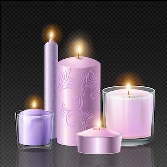 Realistyczna kolekcja świec zapachowych