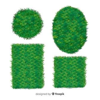 Realistyczna kolekcja szablon transparent trawa