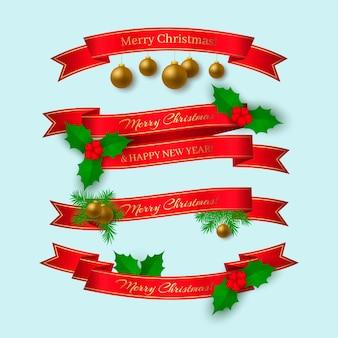 Realistyczna kolekcja wstążek świątecznych