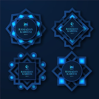 Realistyczna kolekcja znaczków ramadan