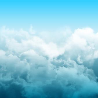 Realistyczna kompozycja abstrakcyjna chmur z zachmurzonymi szarymi chmurami na niebie