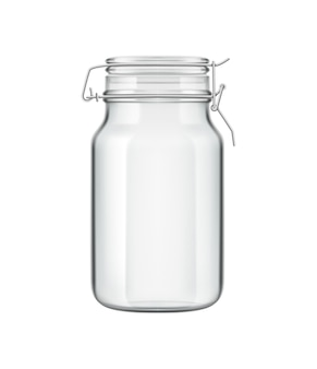 Realistyczna kompozycja drewnianych sztućców zero waste eco kuchnia z odosobnioną ilustracją szklanej puszki