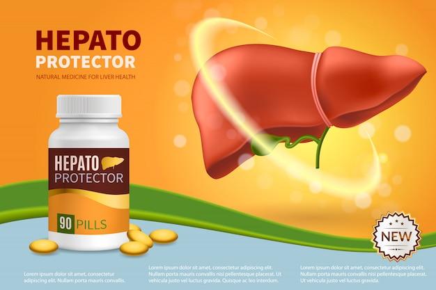 Realistyczna kompozycja hepatoprotektora