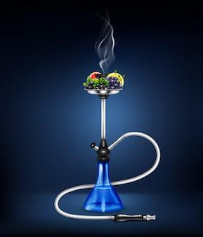 Realistyczna kompozycja owoców fajki wodnej