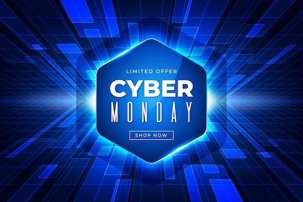 Realistyczna koncepcja cyber poniedziałek technologii