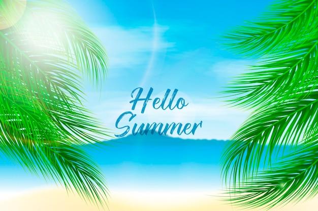 Realistyczna koncepcja cześć lato
