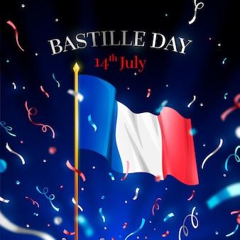 Realistyczna koncepcja dnia bastylii