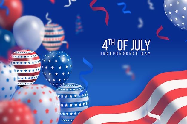 Realistyczna koncepcja dnia niepodległości usa