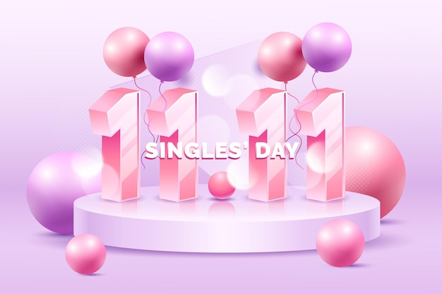 Realistyczna koncepcja dnia singli