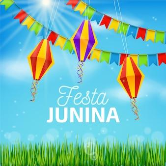 Realistyczna koncepcja festa junina