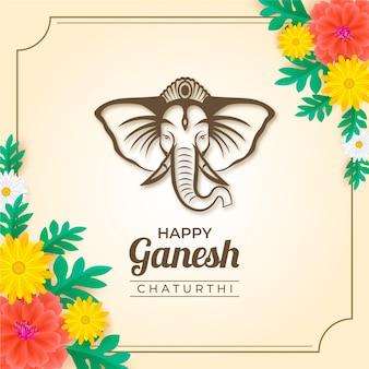 Realistyczna koncepcja ganesh chaturthi