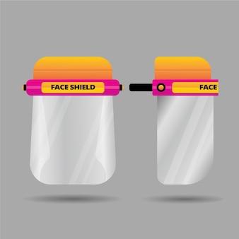 Realistyczna koncepcja plastikowej osłony twarzy