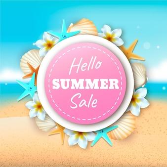 Realistyczna koncepcja sprzedaży cześć lato