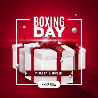 Realistyczna koncepcja sprzedaży drugiego dnia świąt bożego narodzenia