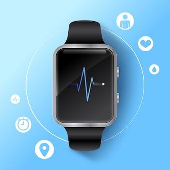 Realistyczna koncepcja trackera fitness