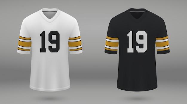 Realistyczna koszulka do futbolu amerykańskiego