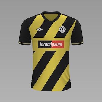 Realistyczna koszulka piłkarska aek, szablon jersey na strój piłkarski