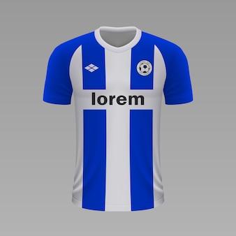 Realistyczna koszulka piłkarska alaves, szablon koszulki na strój piłkarski.