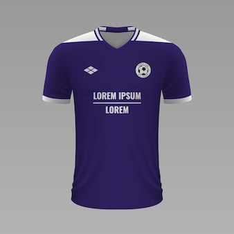 Realistyczna koszulka piłkarska anderlecht, szablon jersey na strój piłkarski
