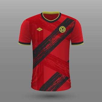Realistyczna koszulka piłkarska belgii