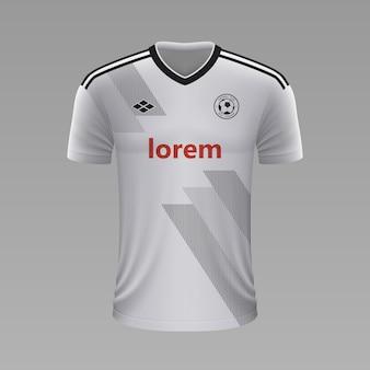 Realistyczna koszulka piłkarska besiktas, szablon koszulki na strój piłkarski