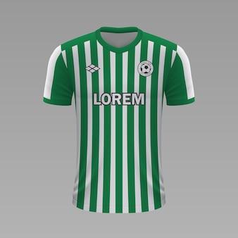 Realistyczna koszulka piłkarska betis, szablon jersey na strój piłkarski.