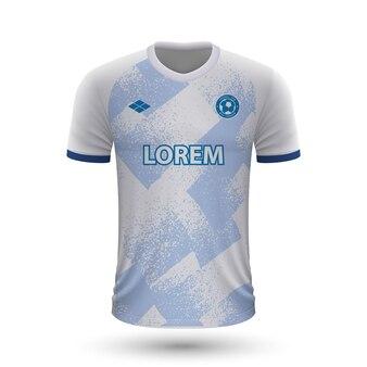Realistyczna koszulka piłkarska dynamo kijów 2022, szablon koszulki dla foo