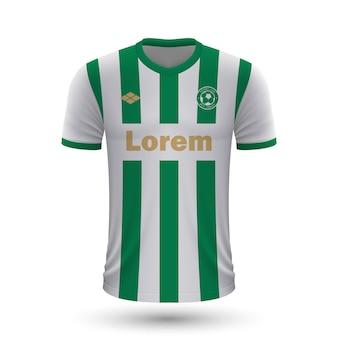 Realistyczna koszulka piłkarska ferencvaros 2022, szablon koszulki dla foo